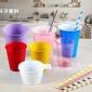 彩色水杯定制一次性塑料酒杯 派�τ�虮�批�l 加厚